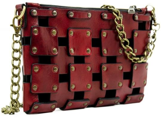 Other Women's Purse Women's Leather Leather Purse RED Clutch Image 6