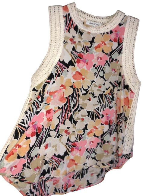 Preload https://img-static.tradesy.com/item/25950756/elizabeth-and-james-flowered-silk-crochet-tank-topcami-size-8-m-0-1-650-650.jpg