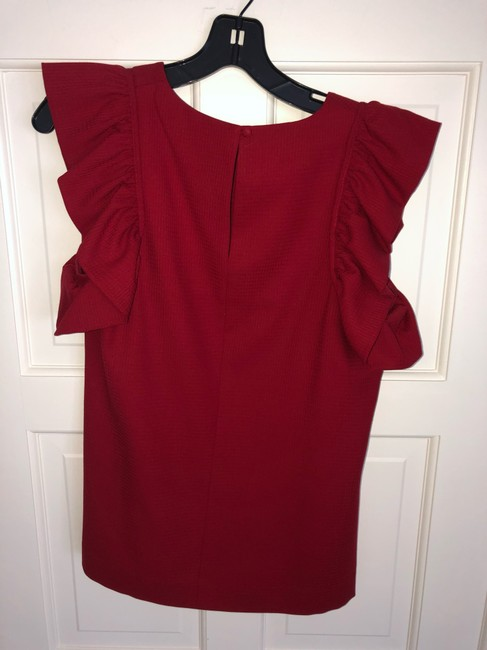 Rachel Zoe Top deep red Image 2