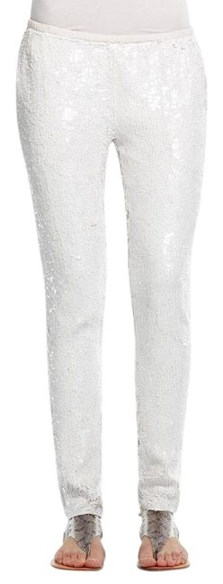 Calypso St. Barth Sequin Straight Pants White Image 2