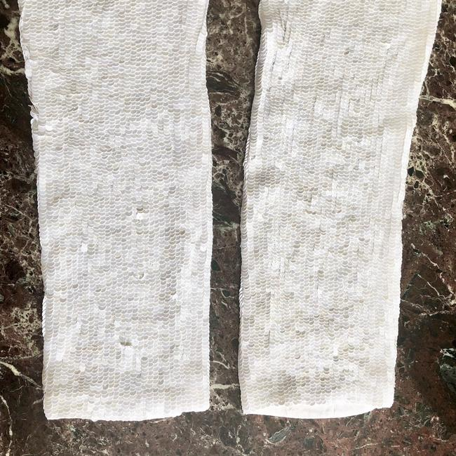 Calypso St. Barth Sequin Straight Pants White Image 4