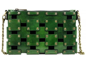 Other Women's Purse Women's Leather Leather Purse GREEN Clutch