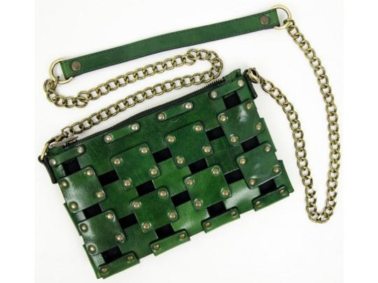 Other Women's Purse Women's Leather Leather Purse GREEN Clutch Image 2