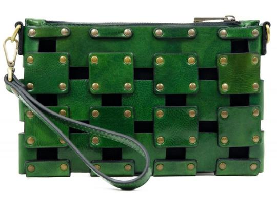 Other Women's Purse Women's Leather Leather Purse GREEN Clutch Image 3