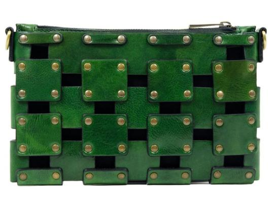 Other Women's Purse Women's Leather Leather Purse GREEN Clutch Image 4