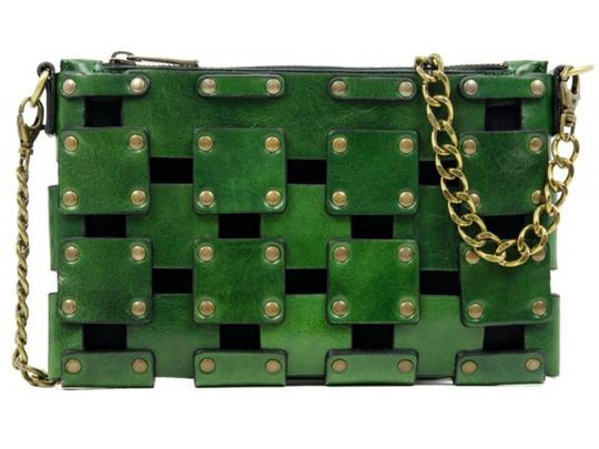 Other Women's Purse Women's Leather Leather Purse GREEN Clutch Image 5