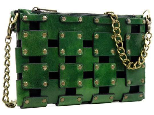 Other Women's Purse Women's Leather Leather Purse GREEN Clutch Image 6