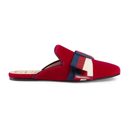 Gucci Red Mules Image 3