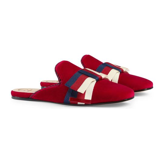 Gucci Red Mules Image 4