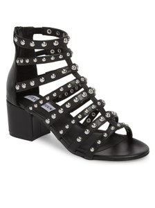 Steve Madden Black leather silver studs Sandals
