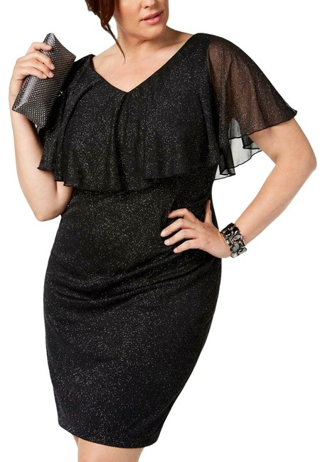 Preload https://img-static.tradesy.com/item/25950829/connected-apparel-black-womens-glitter-overlay-22w-mid-length-cocktail-dress-size-22-plus-2x-0-1-650-650.jpg