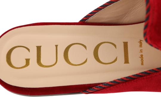 Gucci Red Mules Image 8