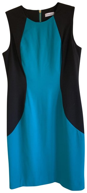 Preload https://img-static.tradesy.com/item/25950928/calvin-klein-black-and-teal-color-darker-than-photos-show-short-casual-dress-size-10-m-0-1-650-650.jpg