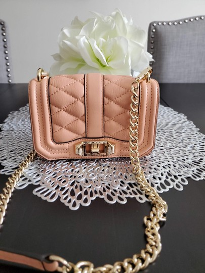 Rebecca Minkoff Leather Clutch Chain Quilted Cross Body Bag Image 1