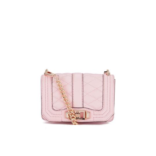 Rebecca Minkoff Leather Clutch Chain Quilted Cross Body Bag Image 11