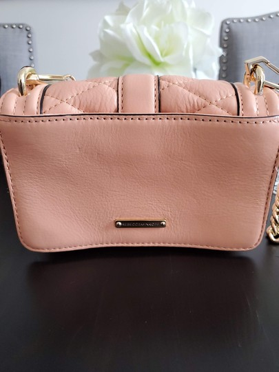 Rebecca Minkoff Leather Clutch Chain Quilted Cross Body Bag Image 2