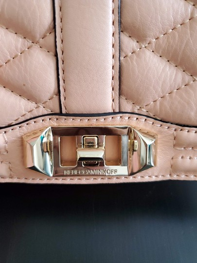 Rebecca Minkoff Leather Clutch Chain Quilted Cross Body Bag Image 4