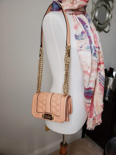 Rebecca Minkoff Leather Clutch Chain Quilted Cross Body Bag Image 7