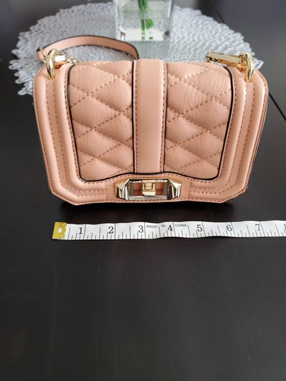 Rebecca Minkoff Leather Clutch Chain Quilted Cross Body Bag Image 9