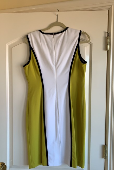 Calvin Klein short dress light olive, white with black trimming on Tradesy Image 1