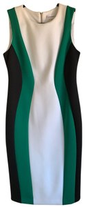 Calvin Klein short dress black, green and white on Tradesy