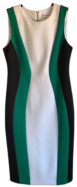 Preload https://img-static.tradesy.com/item/25950989/calvin-klein-black-green-and-white-short-casual-dress-size-10-m-0-2-650-650.jpg