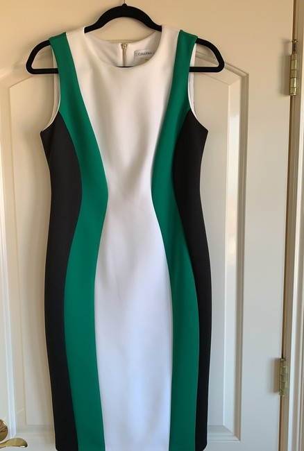 Calvin Klein short dress black, green and white on Tradesy Image 1