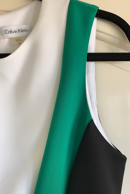 Calvin Klein short dress black, green and white on Tradesy Image 6