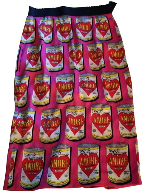 Preload https://img-static.tradesy.com/item/25951070/dolce-and-gabbana-hot-pink-campbell-s-soup-warhol-amore-skirt-size-8-m-29-30-0-1-650-650.jpg