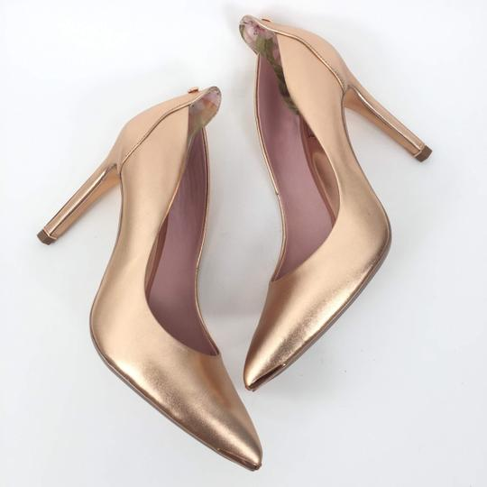 Ted Baker Pointedtoe Melisah Rose Gold Pumps Image 4