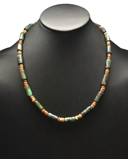 Preload https://img-static.tradesy.com/item/25951102/turquoise-w-orange-spiny-sterling-silver-necklace-0-1-540-540.jpg