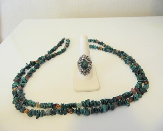 Other Turquoise Necklace and Ring Set 10 Image 9