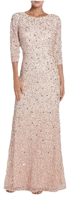 Preload https://img-static.tradesy.com/item/25951185/adrianna-papell-blush-34-sleeve-scoop-back-sequin-gown-long-formal-dress-size-2-xs-0-1-650-650.jpg
