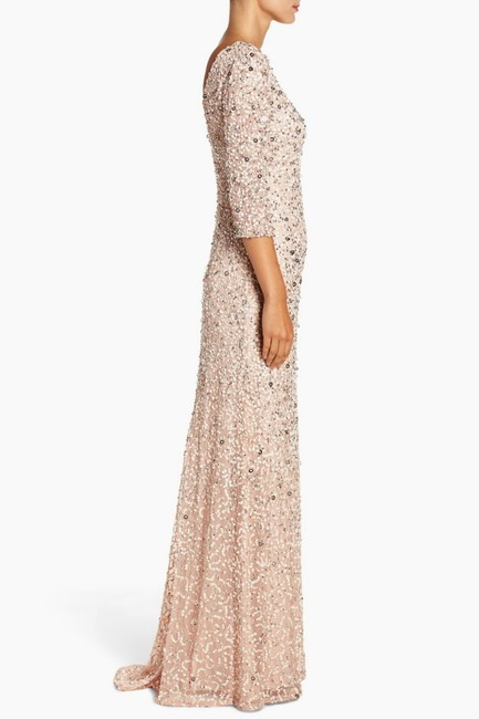 Adrianna Papell Evening Gown Wedding Sequin Sequin Gown Dress Image 1