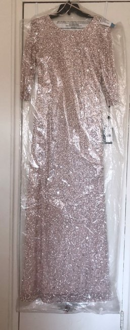 Adrianna Papell Evening Gown Wedding Sequin Sequin Gown Dress Image 5