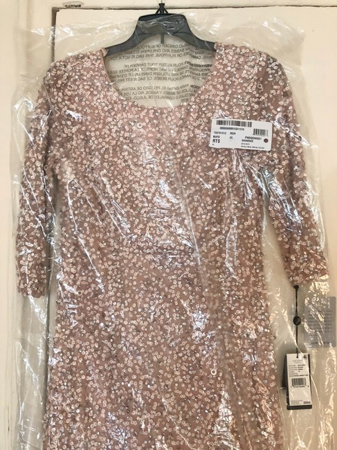 Adrianna Papell Evening Gown Wedding Sequin Sequin Gown Dress Image 7
