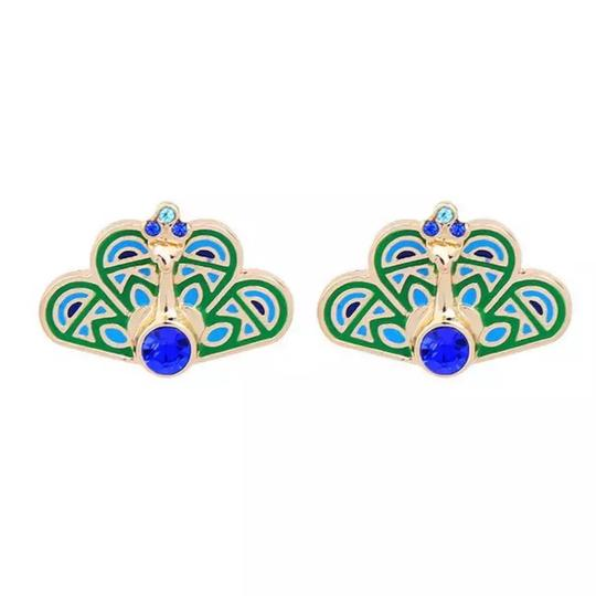 Preload https://img-static.tradesy.com/item/25951195/kate-spade-blue-and-green-and-gold-crystal-peacock-earrings-0-0-540-540.jpg