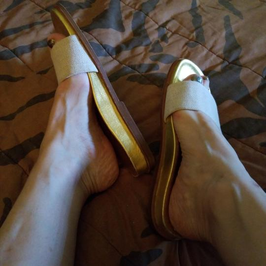Prada Gold Sandals Image 1