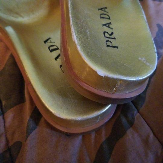Prada Gold Sandals Image 7