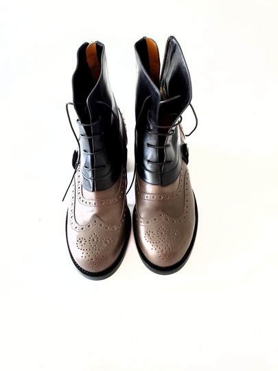 Jil Sander Two-tone Ankle Gray & Black Boots Image 1