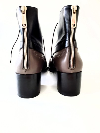 Jil Sander Two-tone Ankle Gray & Black Boots Image 2