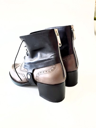 Jil Sander Two-tone Ankle Gray & Black Boots Image 3