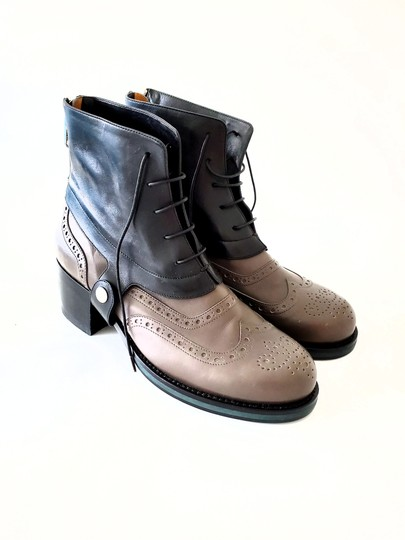 Jil Sander Two-tone Ankle Gray & Black Boots Image 4