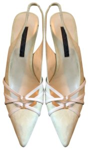 Donna Karan cream, mint green Pumps