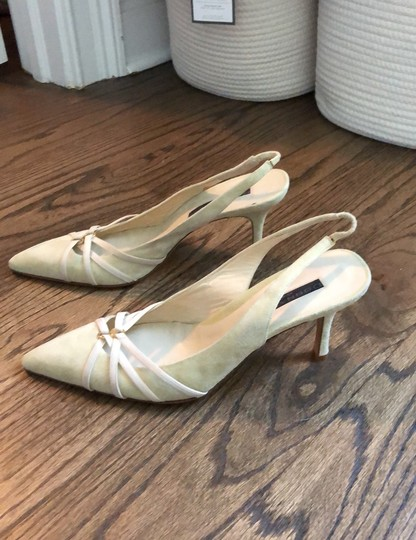 Donna Karan cream, mint green Pumps Image 1