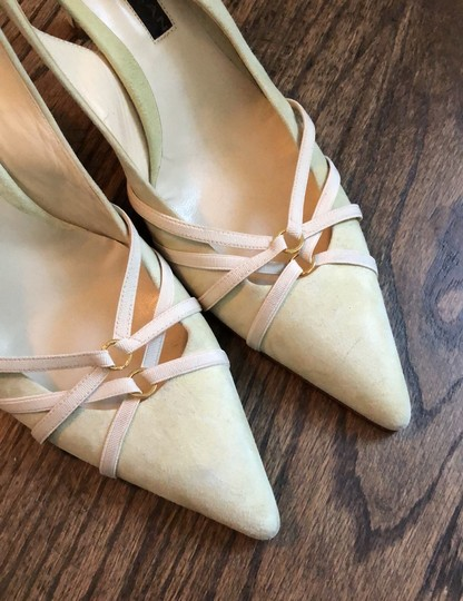 Donna Karan cream, mint green Pumps Image 5