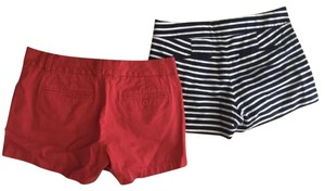 J.Crew Mini/Short Shorts red and dark navy (almost black) striped