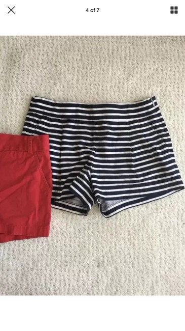 J.Crew Mini/Short Shorts red and dark navy (almost black) striped Image 2