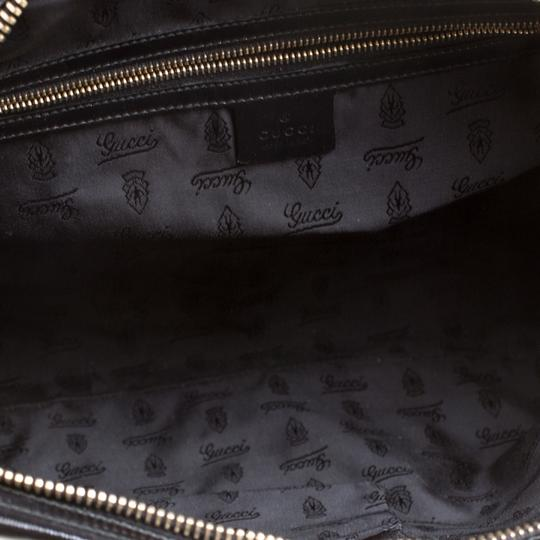 Gucci Bamboo Leather Nylon Shoulder Bag Image 5