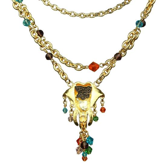 Ritzy Couture by Esme Hecht Royal Maharaja Elephant Multi Chain Dangle Necklace (Goldtone) Image 2